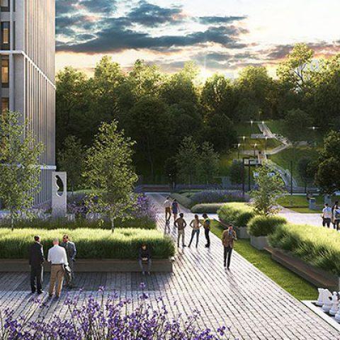 commercial building garden vilnius baltic bim management project 2