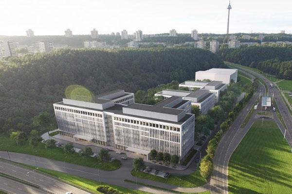 commercial building garden vilnius baltic bim management project 4