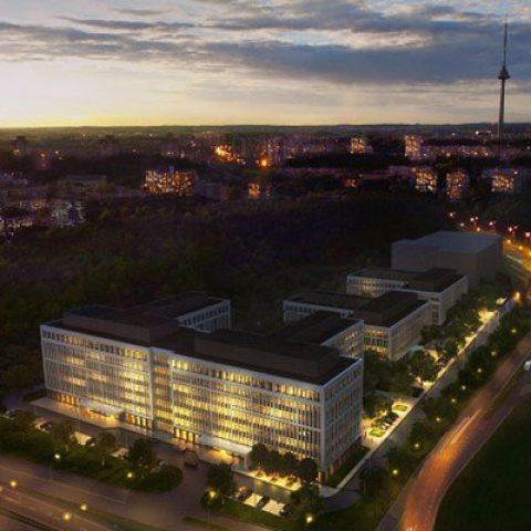 commercial building garden vilnius baltic bim management project