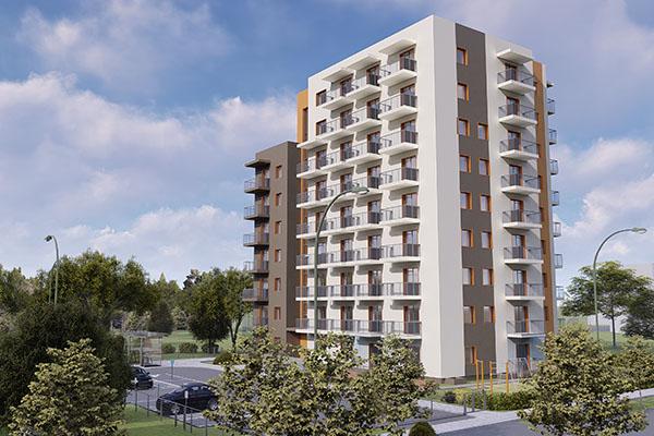 multistorey appartment building Vilnius baltic bim management project